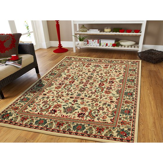 cream persian area rugs for living room 8x11 large. Black Bedroom Furniture Sets. Home Design Ideas