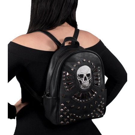 Gothic Skull Studded Concealed Carry Backpack