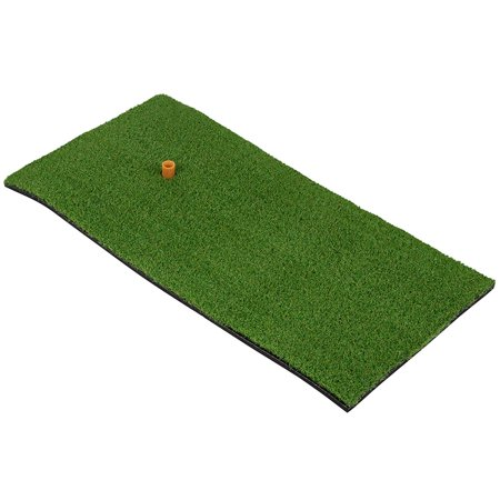 Juvale Golf Practice Hitting Mat - Putting Swing Training Aid for Home, Office, Indoor, Outdoor, Gift, Green, 12 x 24 Inches Golf Training Mat