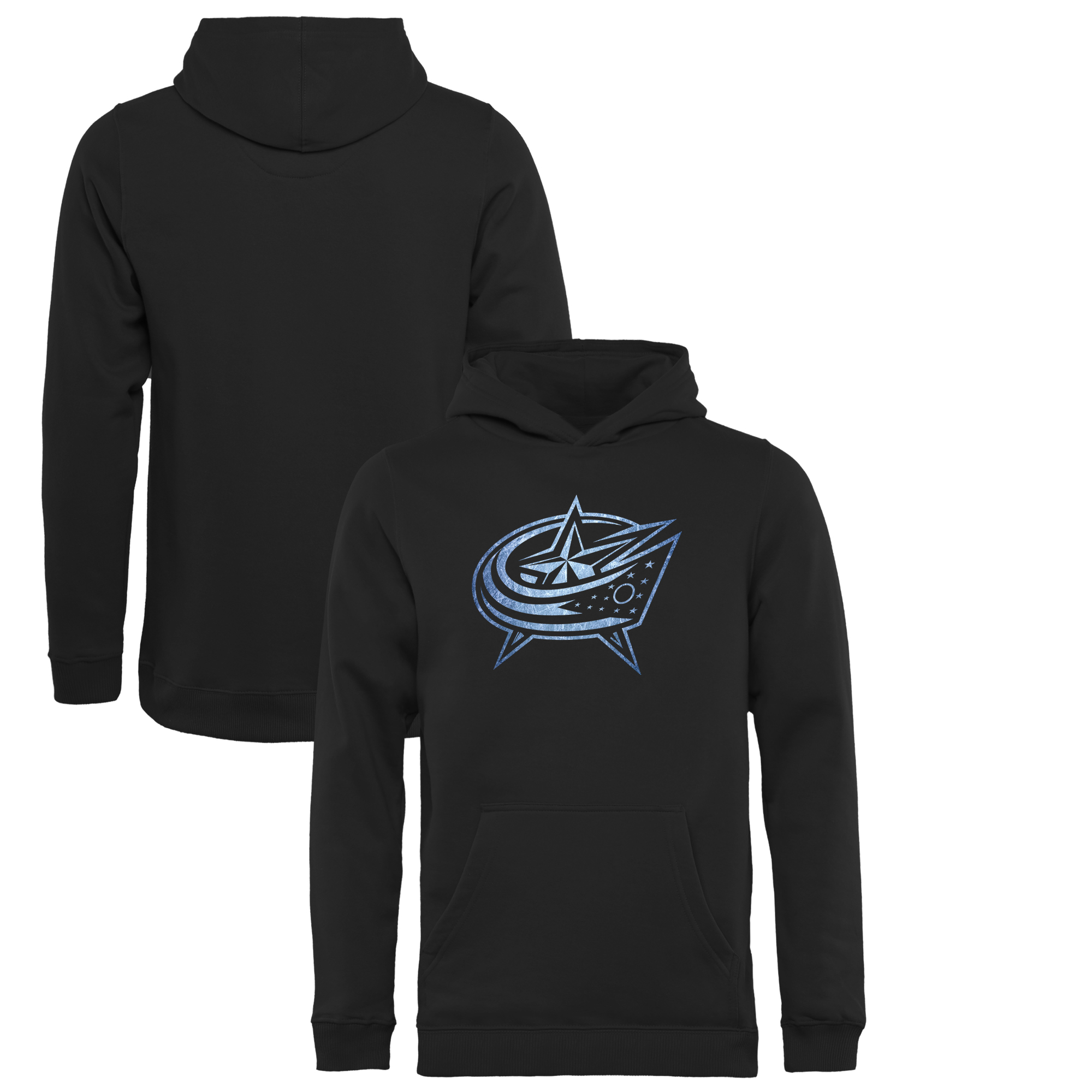 Columbus Blue Jackets Youth Pond Hockey Pullover Hoodie Black by Football Fanatics/Ruppshirts