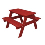 Recycled Earth-Friendly Outdoor Patio Kid's Picnic Table - Candy Apple Red