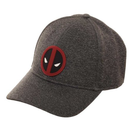 Deadpool Grey Rubber Logo Flexfit Hat