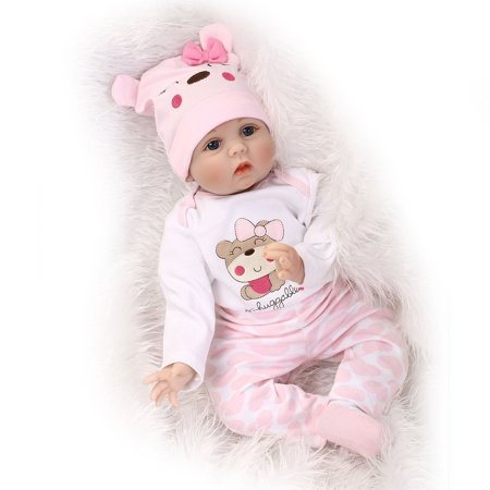 Cute Lovely Girls Realistic Silicone Reborn Newborn Baby Doll Play House Toy - image 9 de 10