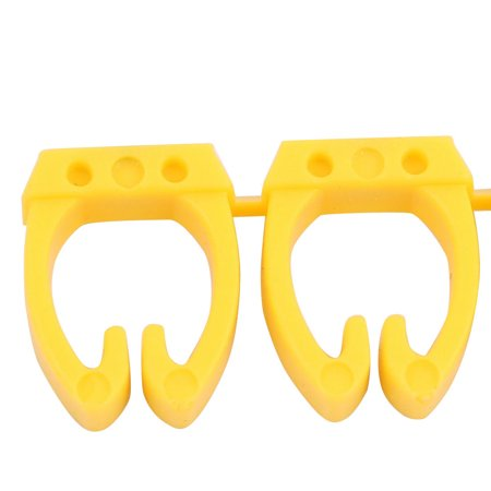20 Pcs Letters - Network Cable Labels Markers Yellow for 6.0-10.0mm Dia Wire - image 3 of 4