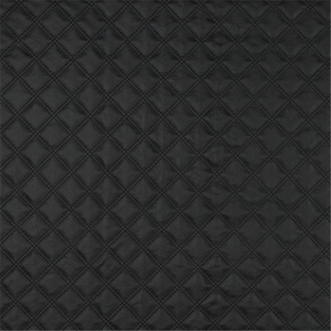 Designer Fabrics G350 54 in. Wide Black, Matte Diamonds Upholstery Faux Leather