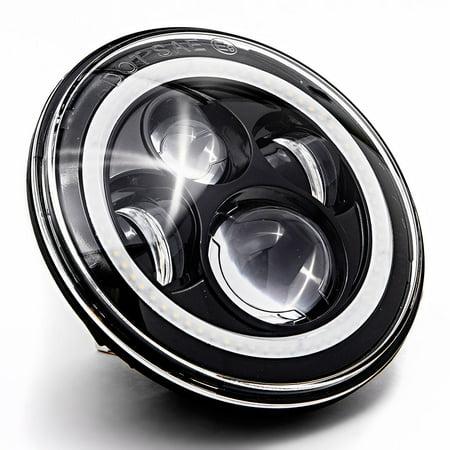 "Krator 7"" Black LED Headlight with Halo Ring Angel Eye for Harley Davidson Ultra Classic Electra Glide EFI FLHTCUI 1995-2006"
