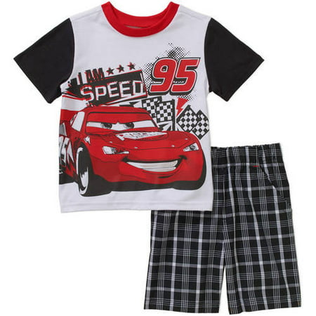 59ff46051bd14 Disney Pixar Cars - Disney Lightning McQueen Toddler Boys' Tee and ...