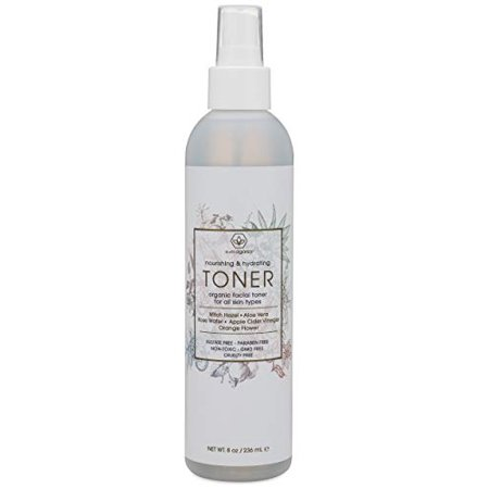 Facial Toner & Organic Face Mist - Extra Nourishing & Hydrating Natural Facial Mist with Witch Hazel, Apple Cider Vinegar, Rose Water for Dry, Oily, Acne Prone Skin. Balance pH, Nourish & (Allies Of Skin Molecular Saviour Toner Mist)