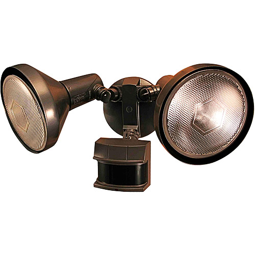 Heath Zenith 240 Degree Motion Sensing Security Light with Bulb Shields, Bronze