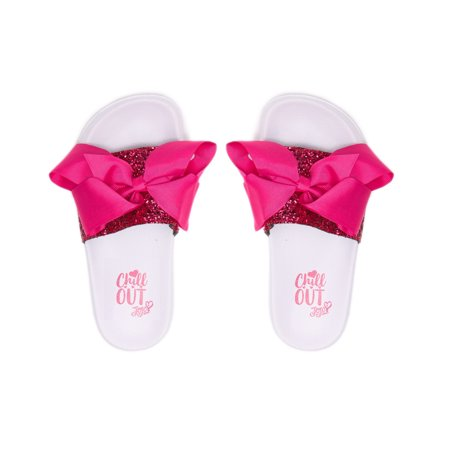 840d50378b3d7 Ground Up - Ground Up Slip On Sandals Jojo Siwa Hot Pink Glitter Bow Girls  Kids Sizes 1-2-3-4-5-13 - Walmart.com