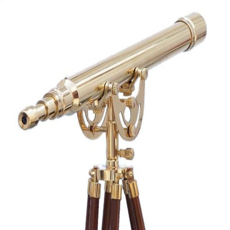 """Hand Craft Model Floor Standing Anchormaster Telescope, Brass, 65"""""""