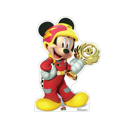 Mickey Trophy (Disney's Roadster Racers) Cardboard Stand-Up, 3.5ft ()