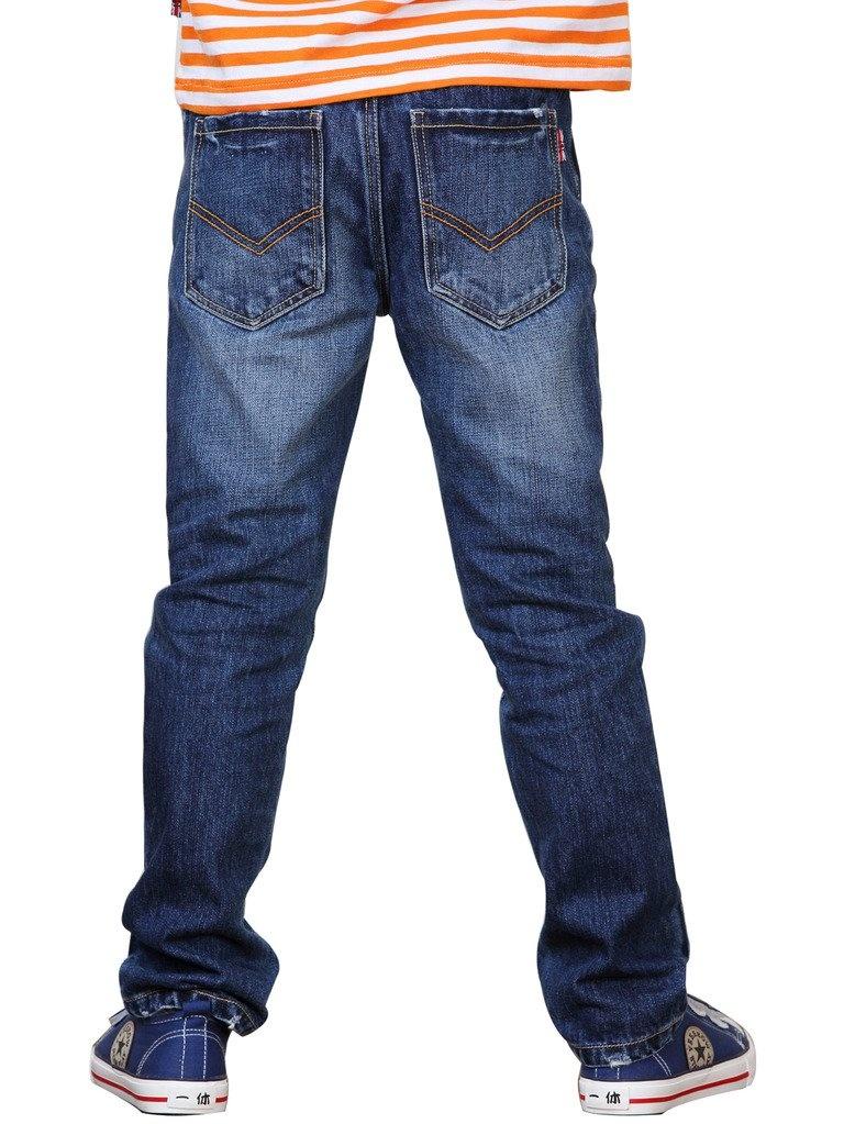 Leo&Lily Boys' Kids' Husky Waist Cotton Denim Regular Fit Jeans Pants