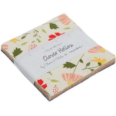 "Clover Hollow Moda Charm Pack by Sherri & Chelsi; 42 - 5"" Precut Fabric Quilt Squares"