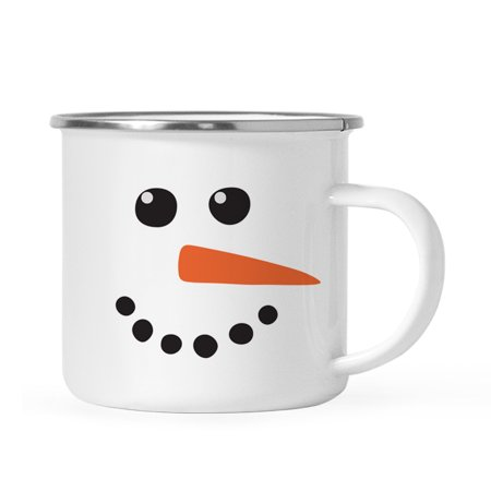 Andaz Press 11oz. Kids Christmas Hot Chocolate Stainless Steel Campfire Coffee Mug, Snowman with Carrot Nose, 1-Pack ()
