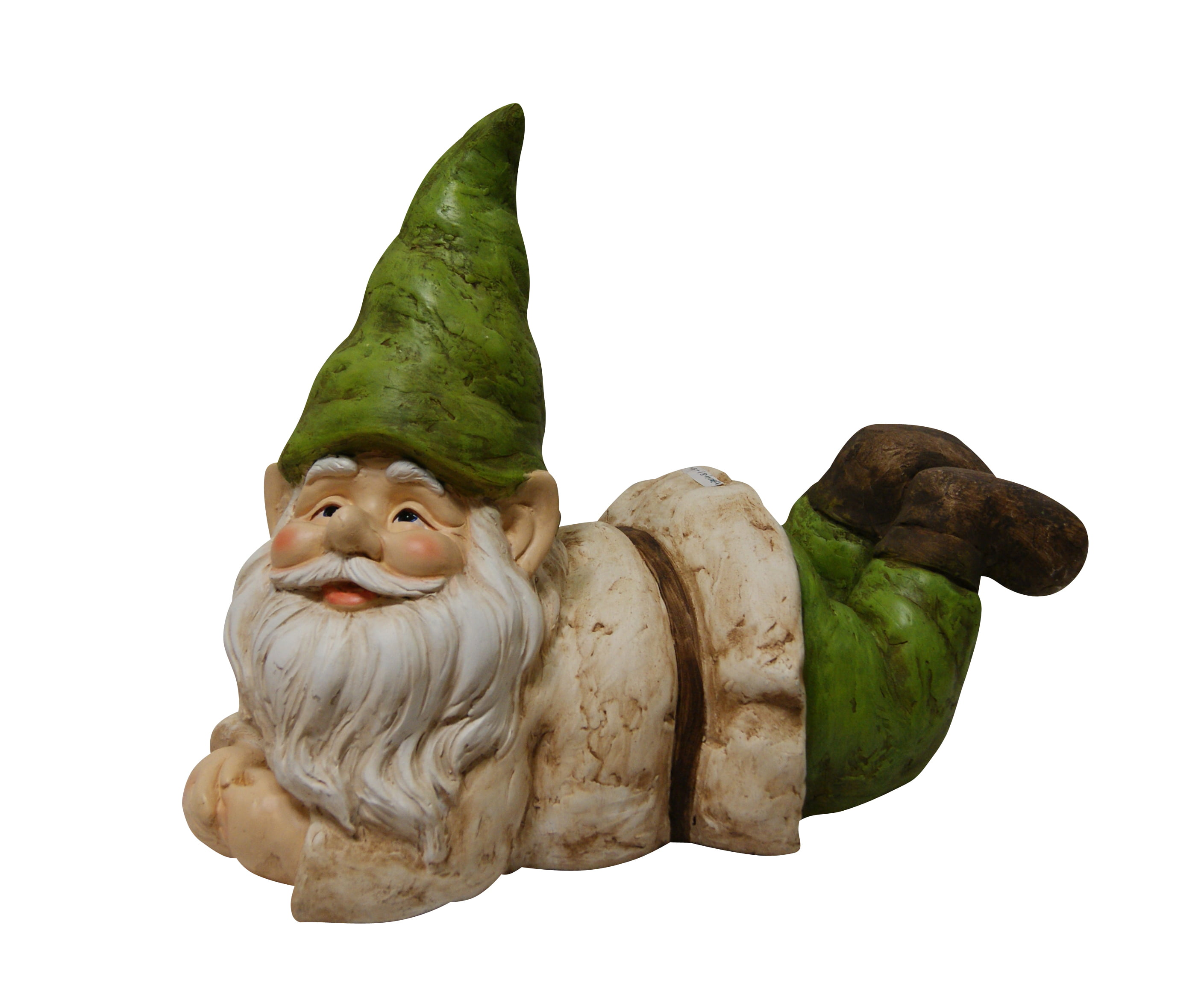 Gnome Lying Down Statue by Benzara