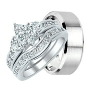 his and hers wedding ring set matching wedding bands for him and her 7 - Wedding Rings For Her