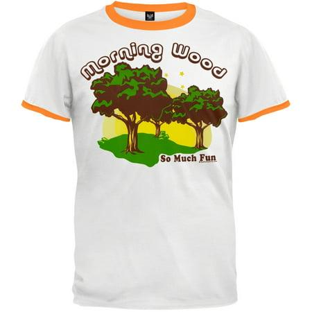 Emblem Ringer T-shirt - Morning Wood White/Orange Ringer T-Shirt