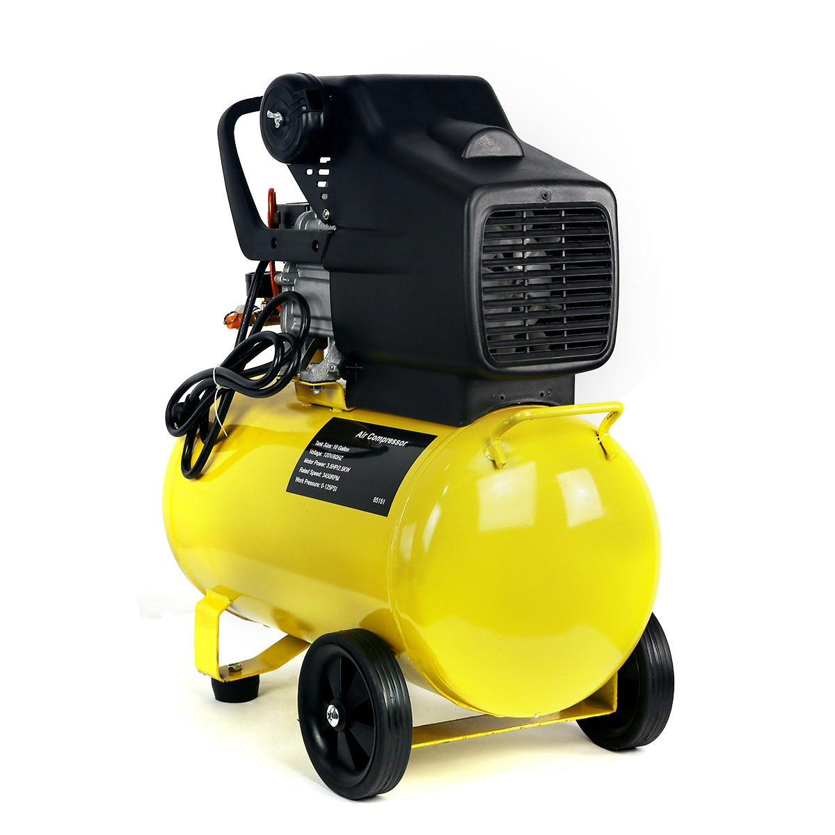 10Gal Air Compressor 3.5HP 125PSI Adjustable Pressure