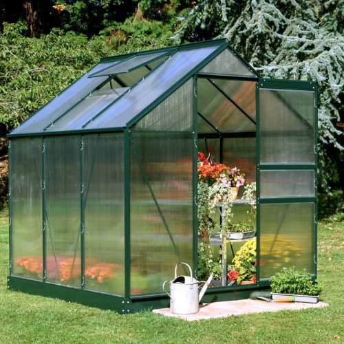 Halls Popular Green 6 x 6-Foot Greenhouse Kit