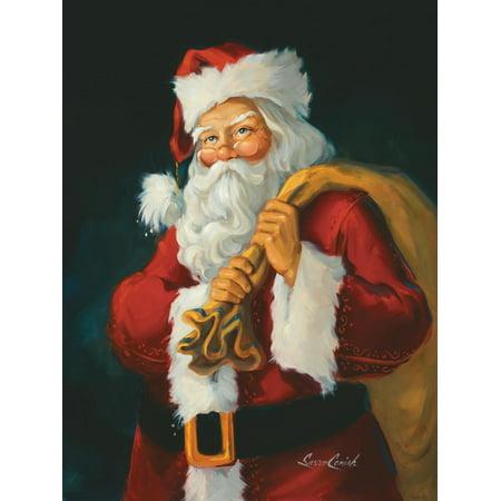 Santa Claus Artwork Print Wall Art By Susan Comish