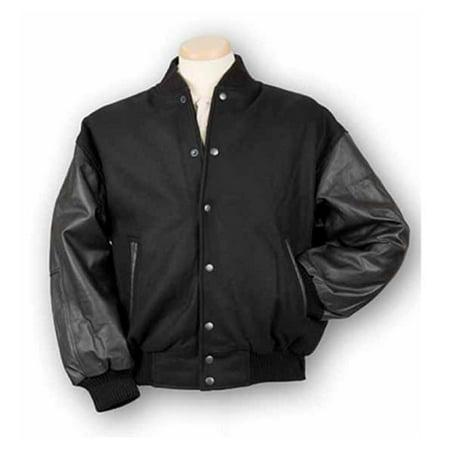 Burk'S Bay 5000-2M Medium Wool and Leather Varsity Jacket in