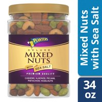 Planters Deluxe Mixed Nuts with Sea Salt, 34.0 oz Jar