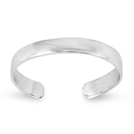 14k White Gold Toe Ring - Dolphins White Gold Toe Ring