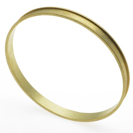 Solid Brass Bangle, Round Channel Bracelet 4.8mm (3/16 Inch) Wide, 1 Piece