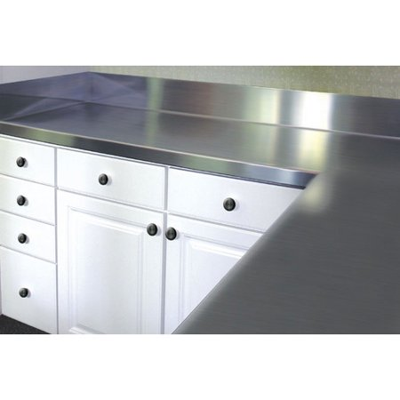 Stainless Backsplash - A-Line by Advance Tabco Stainless Steel Counter Top with Backsplash
