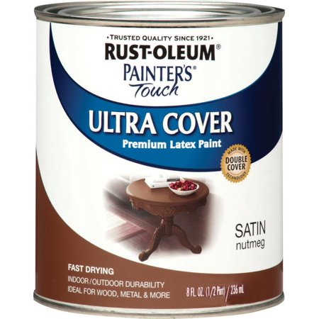 - PAINT ACRY SATIN NUTMEG 1/2PT