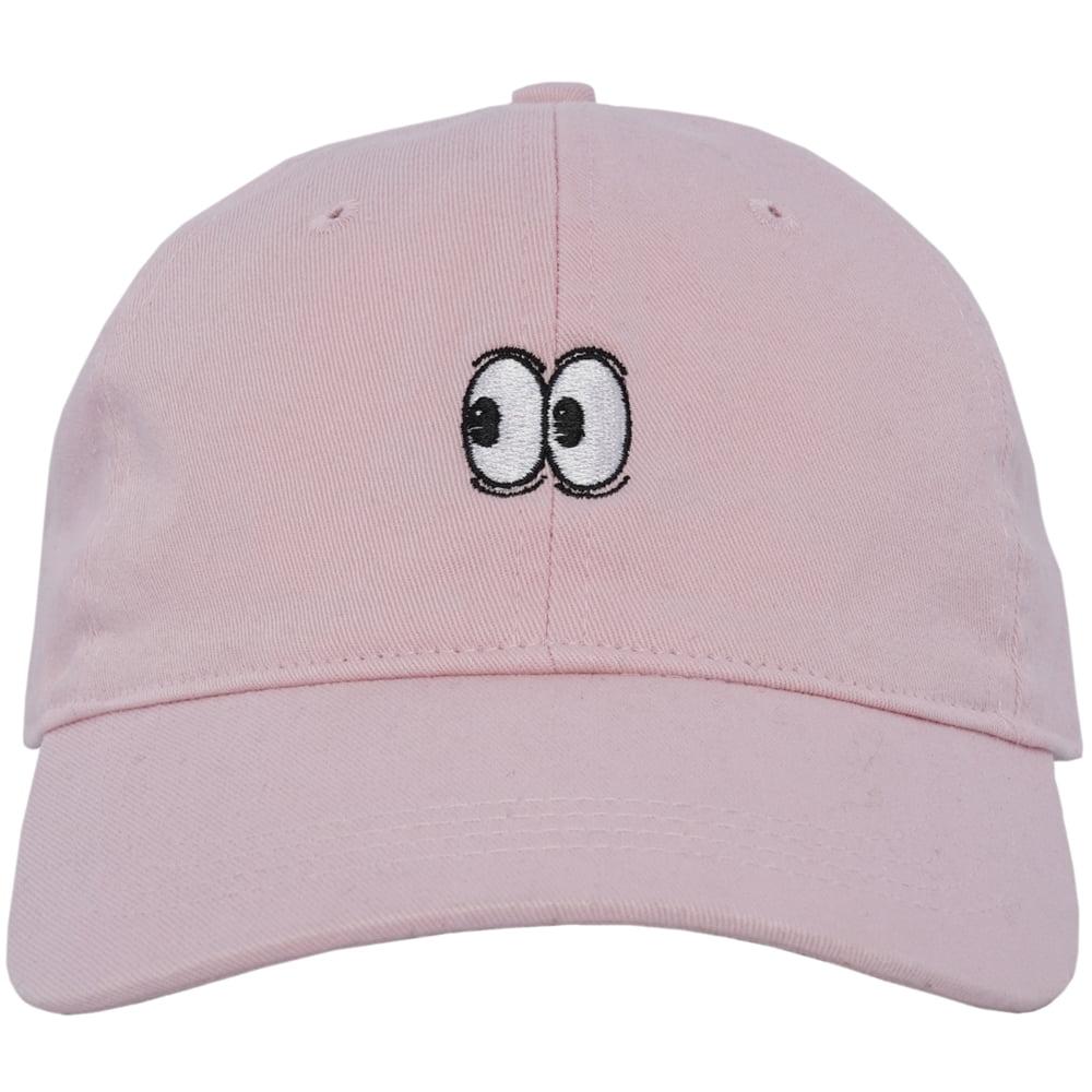 Emoji Eyes Dad Hat Curved Baseball Cap Unstructured Strapback City Hunter  Pink - Walmart.com a2526e02ec8