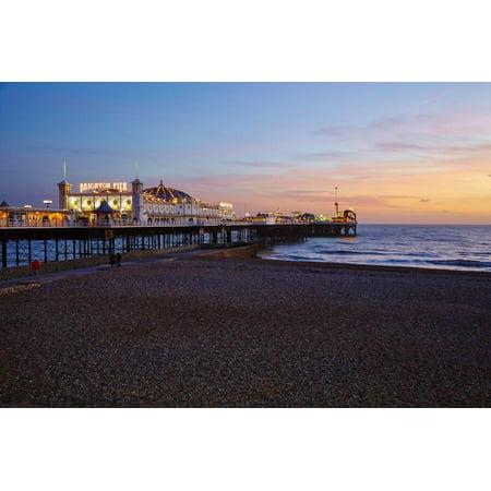 Brighton Pier, Brighton, Sussex, England, United Kingdom, Europe Print Wall Art By Mark Mawson