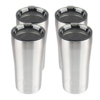 Ozark Trail 4-Pack 20-Ounce Double-wall, Vacuum-sealed Stainless Steel Tumbler