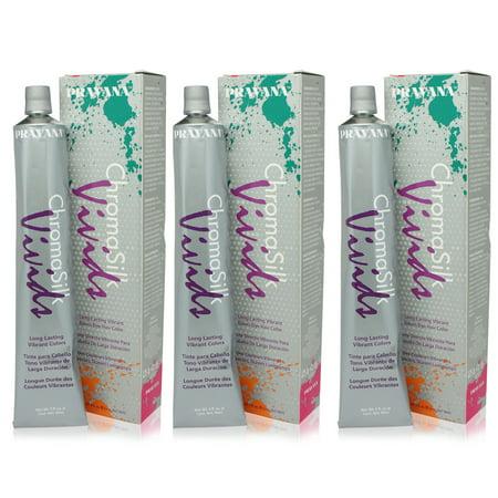 PRAVANA ChromaSilk Vivids Creme Hair Color with Silk & Keratin Protein (Yellow)3 fl Oz-3 pack ()