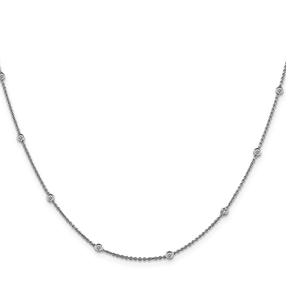 ICE CARATS ICE CARATS 14kt White Gold Diamond Rolo Chain Necklace Pendant Charm Fine Jewelry Ideal Gifts For Women Gift... by IceCarats