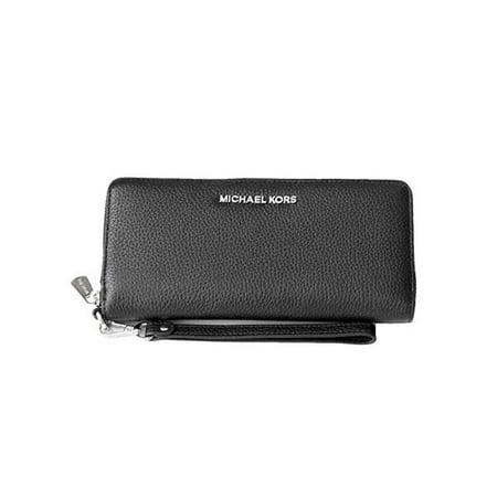 bf75248d8db6c9 Michael Kors - Michael Kors Jet Set Travel Continental Zip Around Leather  Wallet Wristlet (Blac - Walmart.com