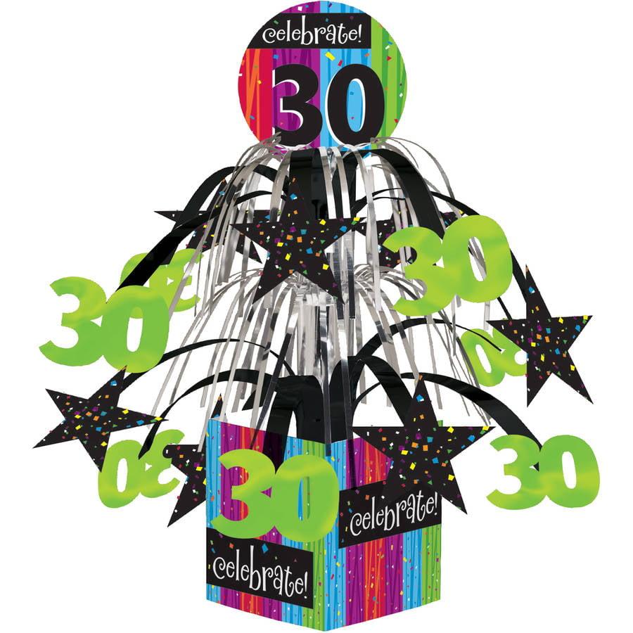 Milestone Celebrations 30th Birthday Centerpiece, 1pk