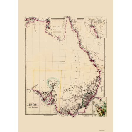 Map Eastern Australia.Old Australia Map Eastern Australia Arrowsmith 1844 23 X 31 95