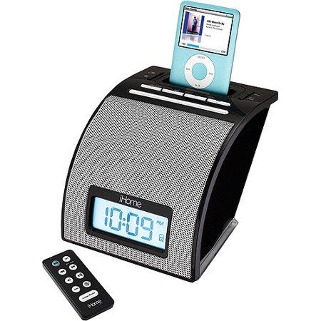 iHome iH11BR Alarm Clock - Speaker dock - for portable use - black - for  Apple iPod (4G, 5G)