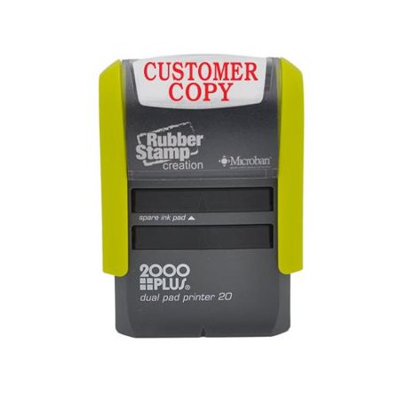 CUSTOMER COPY Self Inking Stamp, Printer 20 with 2 pads - Red (Printed Stamp)