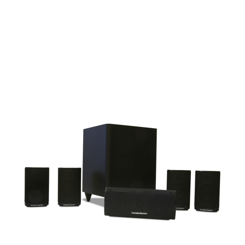 Harman Kardon HKTS 5 Home Theater Cinema Speaker System 5BK 6 Piece Black Speaker Set by Harman Kardon