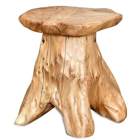 Fantastic Welland 14 Inch Unique Live Edge Cedar Wood Stump Mushroom Stool Download Free Architecture Designs Ferenbritishbridgeorg