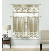 Rooster Motive Kitchen Curtains Walmart Com
