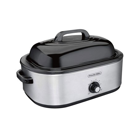 Proctor Silex 18 Quart Stainless Steel 24lb Turkey Roaster Oven w/ Removable Pan