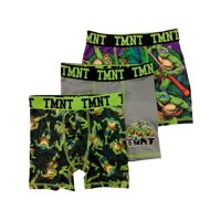 Boys 3pc TMNT Boxer Briefs Teenage Mutant Ninja Turtles Boxer Shorts Set