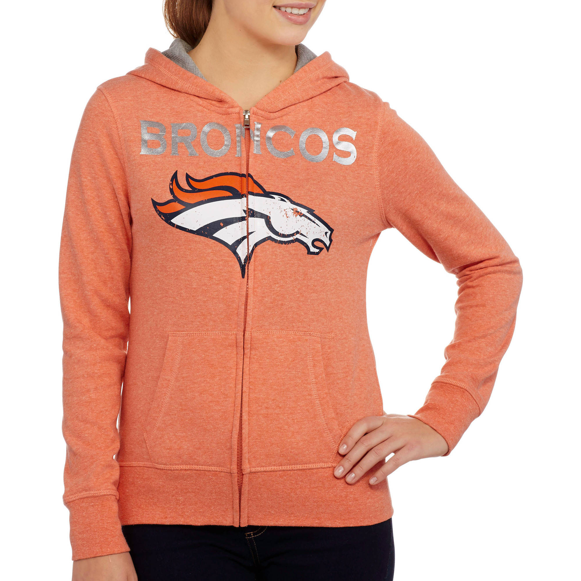 NFL Juniors Broncos  French Terry Hooded Fleece