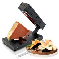 NutriChef PKCHMT26 - Electric Cheese Melter - Swiss Style Cheese Raclette Server