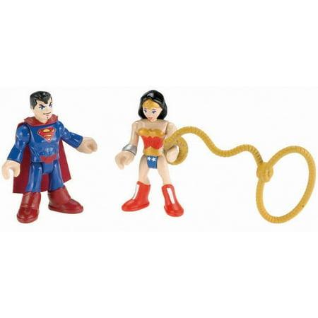 Imaginext DC Super Friends Superman and Wonder Woman Action Figures