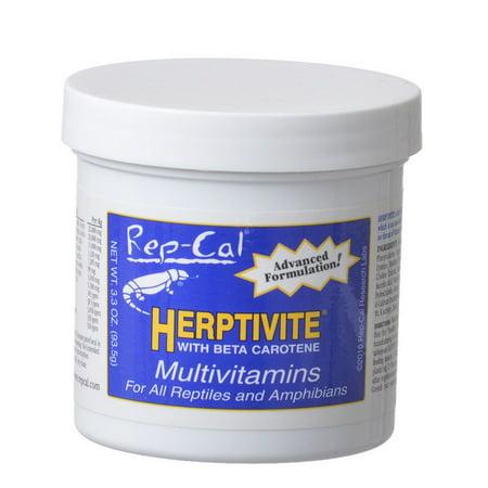 Rep Cal Herptivite Multivitamin Supplements for Reptiles 3.3 oz ()